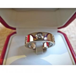 Cartier 18k White Gold Diamond and Screw Love Ring