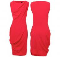 Vivienne Westwood red drape dress
