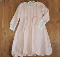 CHLOE PRETTY COTTON / LINEN GIRLS DRESS AGE 14