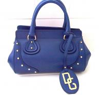 Dolce & Gabbanna blue leather embellished bag