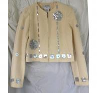 Chanel Cream Boucle Jacket
