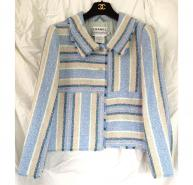 Chanel Blues/Cream stripe Jacket