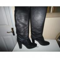 Chloe Black Prince Pull On Boot Size UK6 (39) BNIB