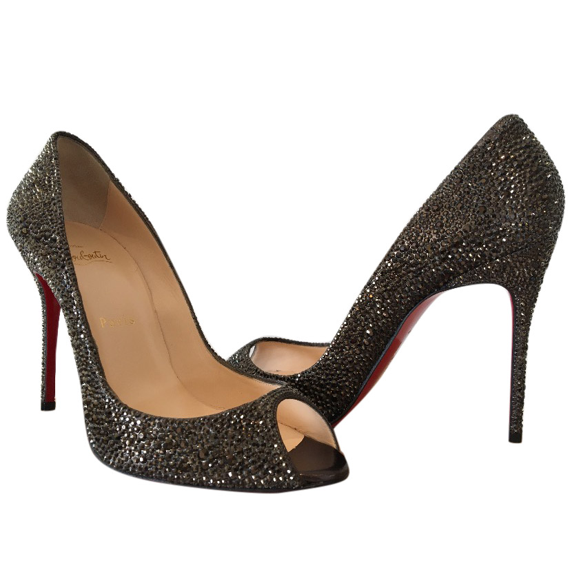 Christian Louboutin Sexy Strass Peep-Toes
