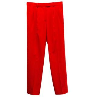 Reed Krakoff red trousers
