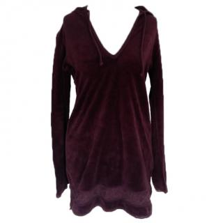 Juicy Coutre burgundy towelling top