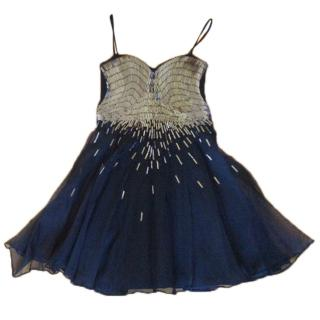 Adam Jones Silk beaded evening dress