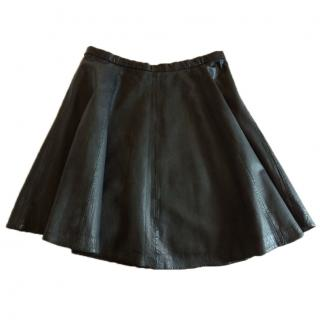 Hotel Particulier Leather skirt