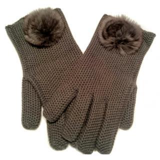 Loro Piana Cashmere & Chinchilla gloves