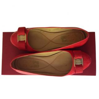 Ferragamo Red Patent Flats