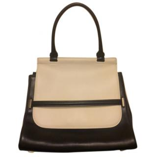 The Row monochrome Sideby leather shoulder bag, made in Italy