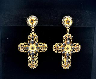 Dolce & Gabbana crosses earrings