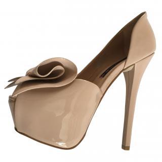 Steve Madden Nude Platform Shoes 7 1/2 US