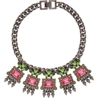 Mawi Crystal leaf spikes necklace
