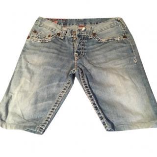 True Religion Men's Denim Shorts