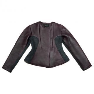 Cedric Charlie Designer Oxblood Leather Jacket