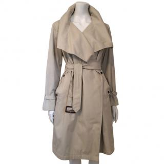 Aquascutum Trench Coat With Shawl Collar In Camel