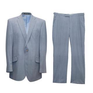 Richard James mens blue checked suit