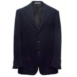 Malo Men's Navy wool blazer