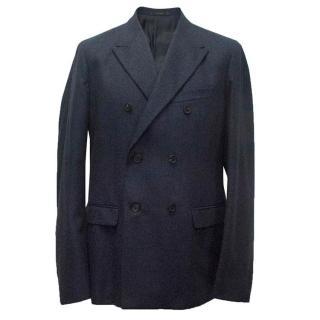Jil Sander men's Navy blue wool double breasted blazer