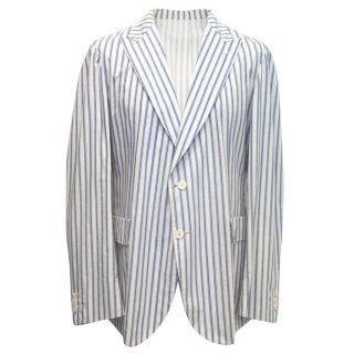 Bottega Veneta Men's Striped Blazer