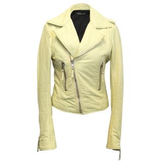 Balenciaga yellow leather jacket