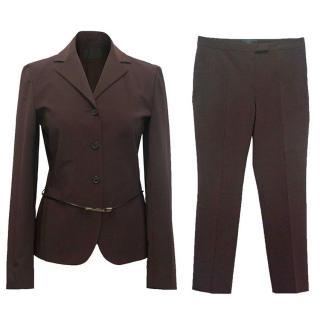 Prada women's brown suit