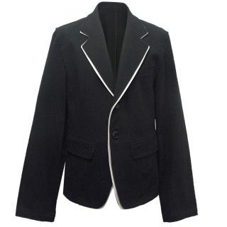 Ann Demeulemeester Men's Navy Blazer