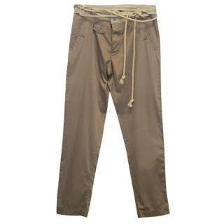Dolce Gabbana Beige trousers with belt
