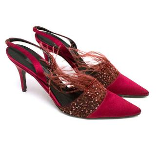 Alberta Ferretti red pumps