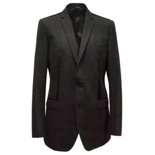 Dolce and Gabbana men's grey wool blazer