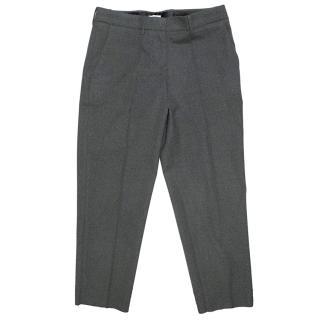 Miu Miu Grey wool cigarette pants