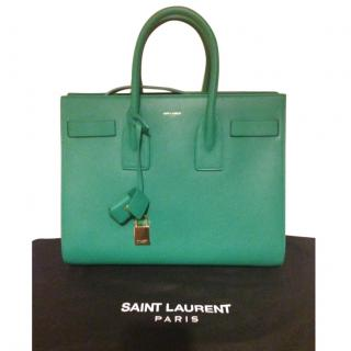 Saint Laurent Small Sac De Jour in Green