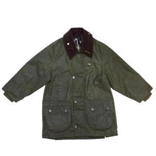 Barbour boy's khaki green jacket