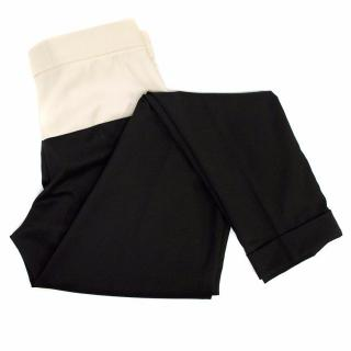 Stella McCartney Black trousers with cream waist