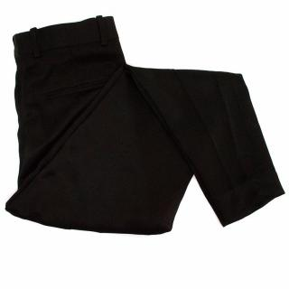 Celine Black trousers with zipped ankles