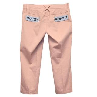 Dolce and Gabanna pink cropped jeans