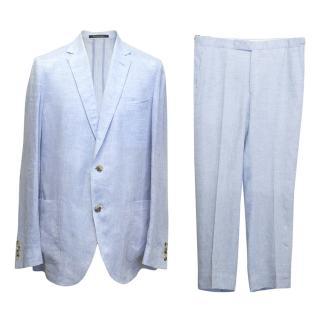 Richard James men's soft blue linen suit