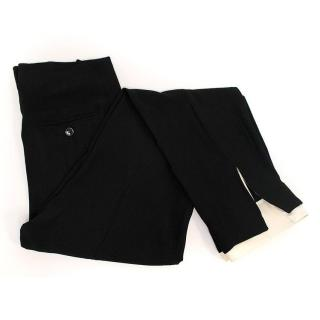 Alexander McQueen black trousers with white trim