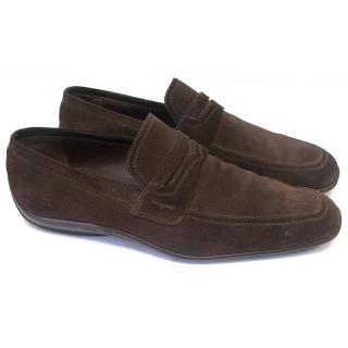Salvatore Ferragamo men's brown mocassins