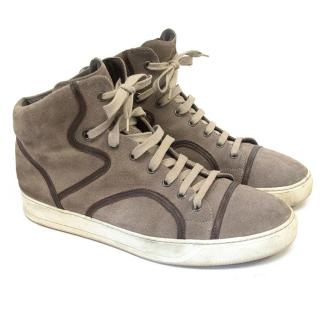 Lanvin Men's brown hi tops
