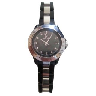 Toy Watch in Silver and Black