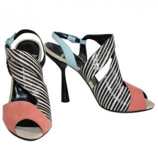 PIERRE HARDY Multi Peach Sandal - Size 40 (UK 7)