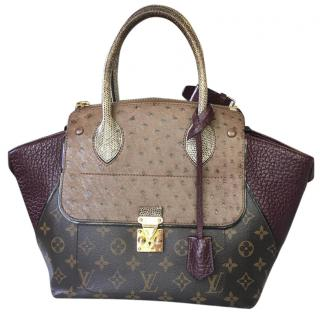 Louis Vuitton Exotic Skins & Monogram Canvas Majestueux PM Tote Bag