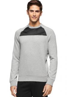Calvin Klein Jeans Nylon Pieced Men's Crew Neck Sweatshirt