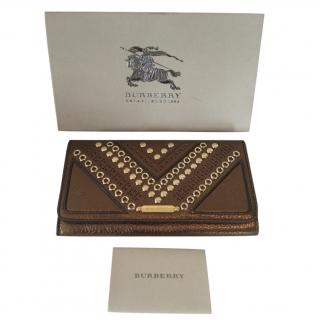 Burberry 'Penrose' Continental Studded Leather Wallet