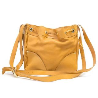 Mulberry mustard drawstring bag