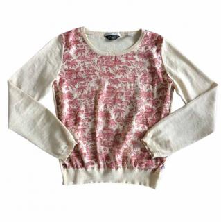 Maison Scotch satin front panel sweater