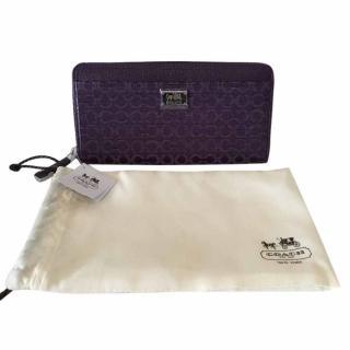 Coach Monogram Wallet - Purple
