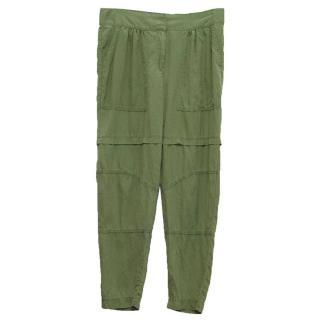 Elizabeth & James khaki soft  cropped trousers